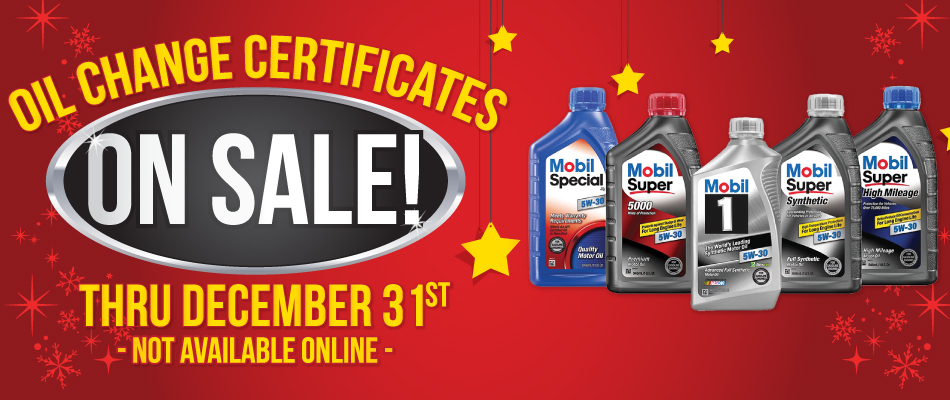 Car Wash - Mobil 1 Lube Express Certificates on sale
