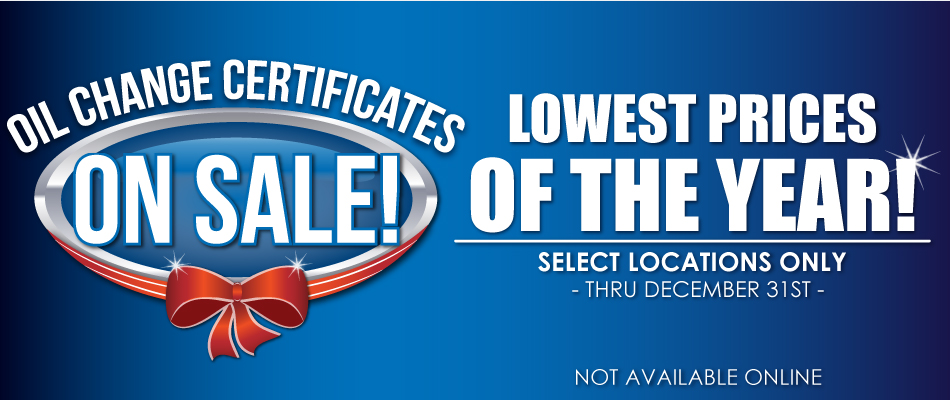 Lube Certificates On Sale