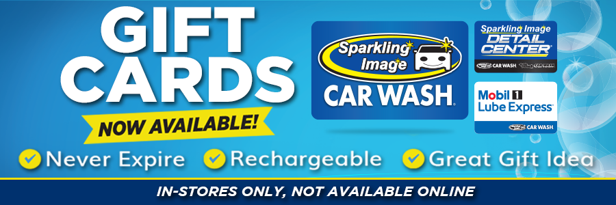Car Wash - Gift Cards now available